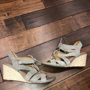 Women's size 12 Clark's wedge sandals